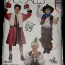 McCalls Costume Sewing Pattern 4461 Boxer Cowboy Pirate Karate Soldier Boys Size Large 10 - 12 CUT
