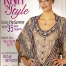 Knit N Style Knitting Crochet Pattern Magazine June 2007 Issue 149 Purse Tank Top Shell Wrap A1026