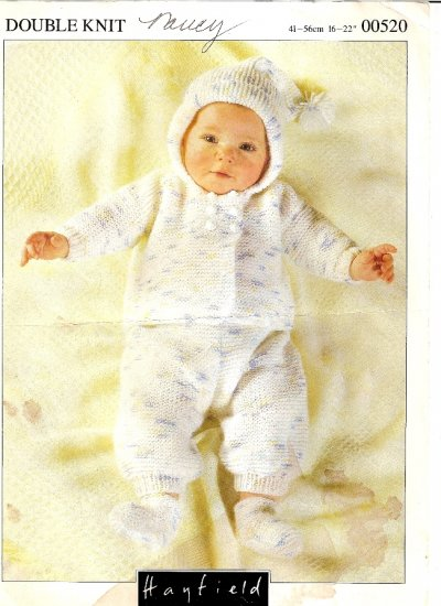 Hayfield Knitting Pattern Leaflet #00520 Infant Baby Hat Jacket Pants Booties A1040