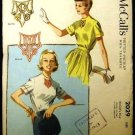 Vintage 1950's McCalls Sewing Pattern 2029 Blouse with Alphabet Transfer Size 16 UNCUT