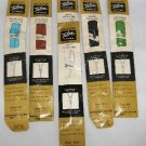 6 Vintage Zippers Zipper Talon Nylon Coil Neckline 22 inch Assorted Colors #118