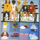 Butterick Sewing Pattern 6972 Unisex Boys Girls T-shirt Shorts Pants Transfers Size 5 6 6X UNCUT