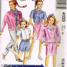 80's McCalls Sewing Pattern 4133 Girls Shirt Blouse Shorts Pants Jacket Size 14 UNCUT