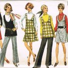 Vintage 1960's Simplicity Sewing Pattern 8347 Scoop Neck Jumper Tunic Skirt Pants Size 14 UNCUT