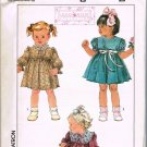 80's Simplicity Lillian August Sewing Pattern 8767 Little Girls Dress 3 styles Size 1 UNCUT