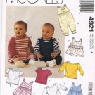 McCalls Sewing Pattern 4921 Kids Dress Crawler Romper Shirt Jumper Newborn - Large UNCUT