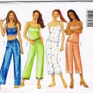Butterick Fast and Easy Sewing Pattern 6883 PJ's Pajama Camisole Pants Size X Small - Medium UNCUT