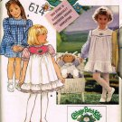 80's Butterick Sewing Pattern 3086 Cabbage Patch Kids Girls Dress and Doll Clothes Size 2 3 4 CUT