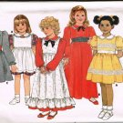 80's Butterick Classics Sewing Pattern 3442 Girls Long Short Pinafore Dress Size 2 3 4 CUT