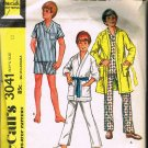 70's McCalls Make it Easy Sewing Pattern 3041 Boys Pajamas Pj's Tie Robe Size 12 CUT