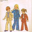 70's Simplicity Sewing Pattern 7319 Boys or Girls Long Sleeve Shirt Jacket Pants Size 3 CUT
