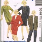 Jacket Skirt Dress Top Tunic Pants 90's McCalls Sewing Pattern 5548 Plus Size 20 22 24 UNCUT
