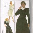 80's Vintage Simplicity Sewing Pattern 8907 Long Short Sleeve Dress 3 Styles Plus Size 18 UNCUT