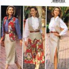 90's Butterick Sewing Pattern 6793 JG Hook Button Skirt Vest Shirt Blouse Size 12 14 16 UNCUT