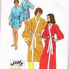 70's Simplicity Sewing Pattern 5685 Mens Womans Long Short Tie Robe Housecoat Medium 38 - 40 UNCUT