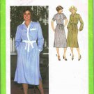 70's Simplicity Sewing Pattern 9017 Button Front Shirt Dress Long Short Sleeve Size 12 UNCUT