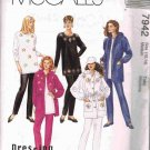 90's McCalls Sewing Pattern 7942 Jacket Tunic Pull On Pants Size Medium 14, 16 UNCUT