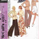 70's McCalls Carefree Sewing Pattern 4087 Wide Leg Proportioned Pants or Shorts Size Small UNCUT