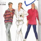 1990's Simplicity Easy Sewing Pattern 9868 Slim Pants Loose Fitting Top Shirt Size 6 - plus 24 UNCUT