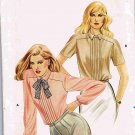Butterick Sewing Pattern 3438 Pointed Tie Collar Long or Short Sleeve Blouse Size 8 UNCUT