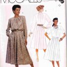 1980's McCalls Sewing Pattern 3409 Pleated Back Zip Dress and Belt in 3 styles Size 12 UNCUT
