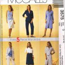 McCalls Sewing Pattern 3575 5 Piece Wardrobe Dress Shirt Top Pants Skirt Size 12 14 16 UNCUT
