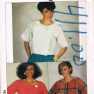 1980's Simplicity Easy to Sew Sewing Pattern 6913 Crop Top Blouse in 3 styles Size 6 8 10 UNCUT