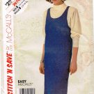 McCalls Easy Stitch n Save Sewing Pattern 2674 Scoop Neck Side Button Jumper Top Size 12 14 16 UNCUT