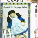 McCalls Sewing Pattern 4186 21 inch Doll Sophie and Her Everyday Clothes UNCUT