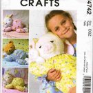 McCalls Craft Sewing Pattern M4742 Sleepy Doll Pajama Holder Bear Lamb Bunny UNCUT
