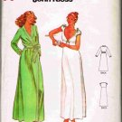 Vintage 70's Quick Butterick Sewing Pattern 6370 John Kloss Robe and Nightgown Size 6 - 8 UNCUT