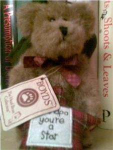 GRANDPA YOU'RE A STAR BOYD TEDDY BEAR NEW WITH TAGS WORLDWIDE SHIPPING AVAILABLE