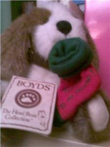 BOYD BEAR PUPPY WITH FREE GIFT BAG NEW WITH TAGS WORLDWIDE SHIPPING AVAILABLE