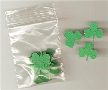 PACK OF 100 SHAMROCK SHAPES  CARD MAKING SUPPLIES