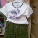 BOYS T SHIRT AND SHORTS SET AGE 3-4 YEARS NEW WITH TAGS
