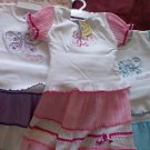 THREE GIRLS SUMMER TOP AND SKIRT SETS NEW 6-12 MONTHS