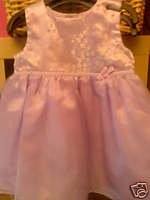 BABY GIRLS LILAC DRESS BRAND NEW AGE 6-9 MONTHS LINED BRAND NEW NO TAGS