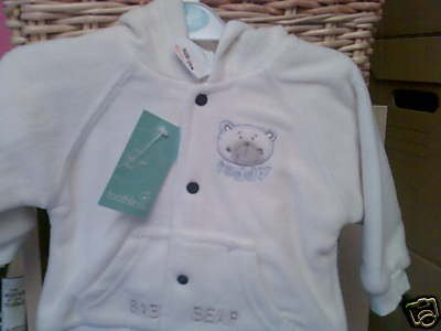 BABYS CREAM FLEECE JACKET WITH HOOD NEW WITH TAGS 3-6 MONTH