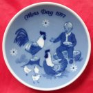 Porsgrunds Norway Mothers Day Plate 1977