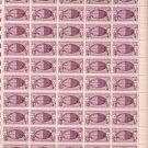 Atlantic Cable 4C 1958 Full Sheet US Postage 4 Cents