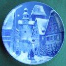 Rothenburg Berlin Design The German Christmas Plate 1971