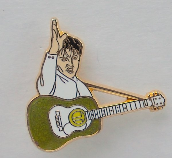 Vintage Elvis Presley With Guitar Metal Tie Pin