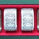 Norwegian Selandia Pewter Norway napkin rings set of 4