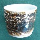 Schulz Porcelain cup Mount St Helens ash glazed