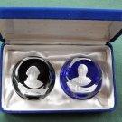 Franklin Mint Bicentennial Collection Cameos paperweights John Paul Jones and Admiral De Grasse