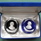 Franklin Mint Bicentennial Collection Cameos Paperweights Thomas Jefferson Jean Jacques Rousseau