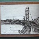 William Radley Golden Gate Engraving Plate By Quido Herman