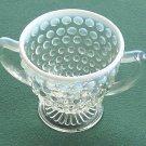 Vintage Anchor Hocking Hobnail Moonstone Glass Sugar Bowl