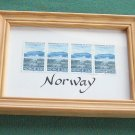Norway 4 Framed 3.30 KR Stamps 1992