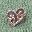 Far Fetched Sterling 925 Silver Heart Pin